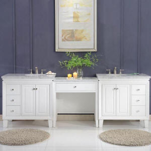 Beau 68 Inch Wide, Sink On Right 103 Inch Wide, Double Sink Vanity 68 Inch Wide,  Sink On Left
