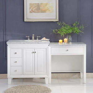 New Mariana Bathroom Sink Vanity Models With Knee Drawer Makeup Table  Dressing Area   Call Us For Best Prices