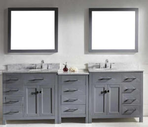 The cabinet is available in an espresso or white color cabinet finish and ships complete with matching set wall mirrors, Carrara white marble counter tops ...