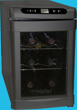 Haier Hvtec18dabs Dual Zone Thermoelectric Wine Cooler 18 Bottle & Haier Thermoelectric Wine Cellar Hvw12abb Haier Dealer Buy Haier ...