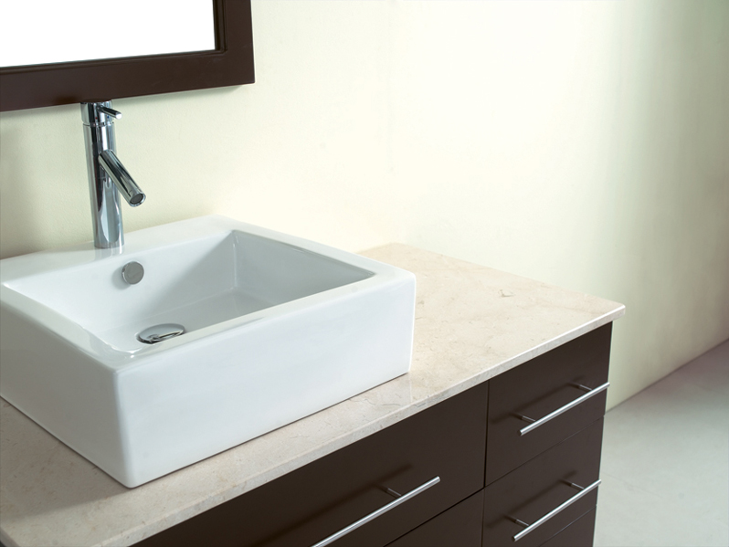 Square Surface Mounted Bathroom Sink Bathroom Fixtures Pinterest ...