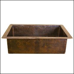 brass elegans 123sbdi antq 123sbdi antq copper kitchen sink - Brass Kitchen Sinks