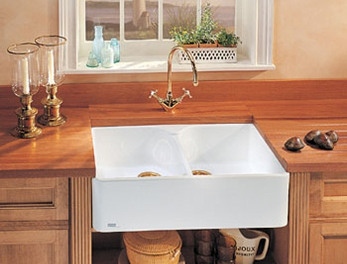 Franke A Front Double Bowl Fireclay Sinks
