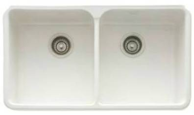 Franke double bowl fireclay sinks kitchen sinks made of fireclay designed for undermount installation sink color options are white biscuit matte black or glossy black workwithnaturefo