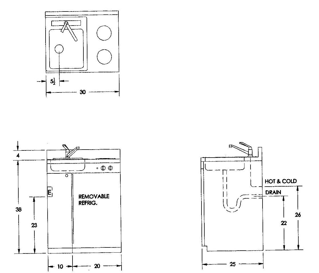 Kitchen Cabinet Height Above Sink: Compact Kitchen Cabinets