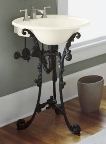 Single Sink Pedestals Bath Sink Consoles Wrought Iron