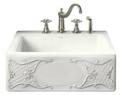 Pictured At Left Is The Kohler Tile In K 14571 T1 Tidings Design On Alcott Kitchen Sink