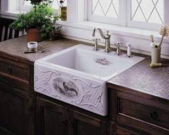 Lied To The Alcott Undercounter Sink This Design Is Rendered In Sepia Tone On White And Biscuit Earthen Pict
