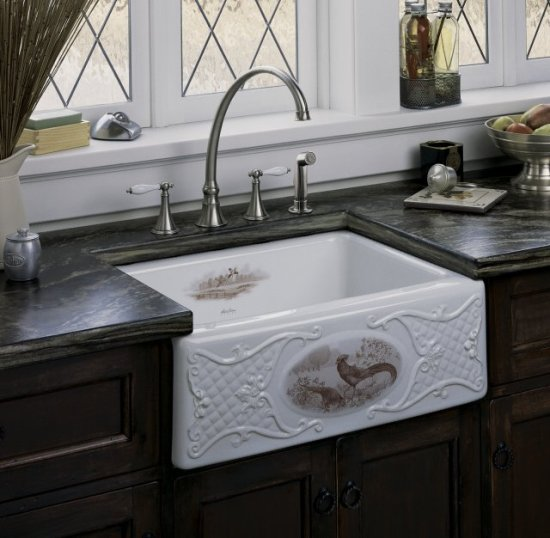 Exceptionnel Applied To The Alcott Undercounter Sink, This Design Is Rendered In Sepia  Tone On White And Biscuit; On Earthen White, The Pictoral Is Rendered ...