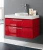 Contemporary Style, Italian made Bathroom Furniture with available matching set storage linen towers