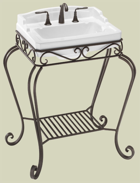 Single Sink Pedestals | Bath Sink Consoles |Wrought Iron Stands