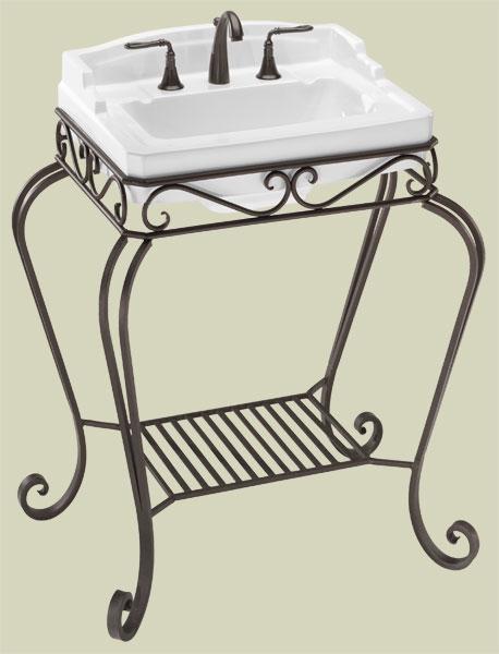 Single Sink Pedestals Bath Sink Consoles Wrought Iron