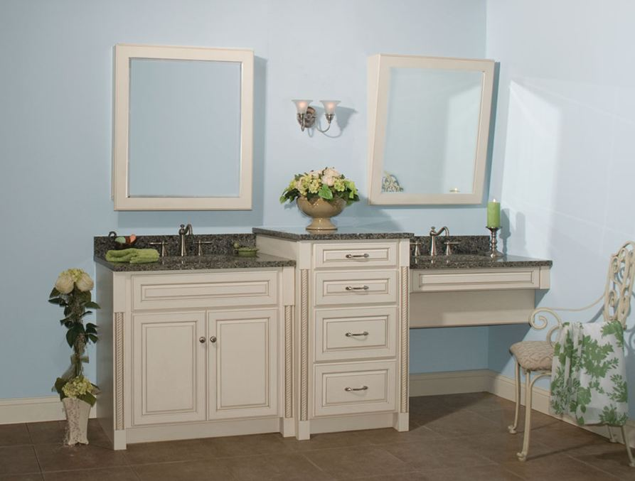 96 wide amalia ada compliant bathroom sink vanity with makeup sitting area