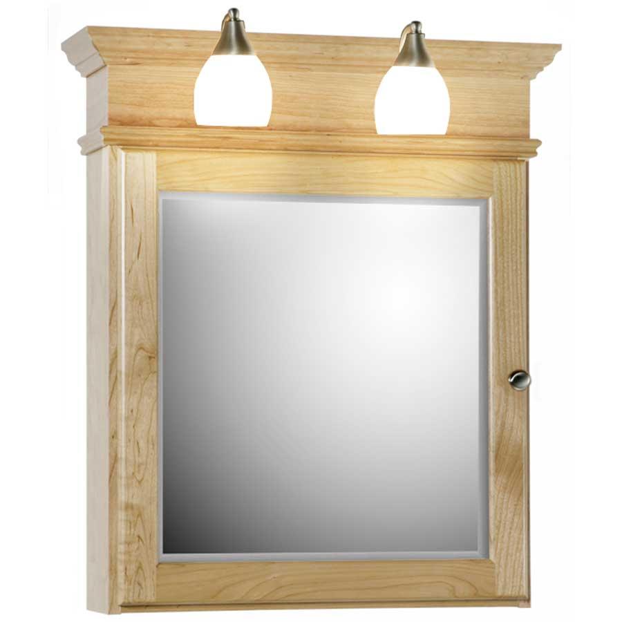 Medicine cabinet mirror recessed bathroom storage cabinet for Wooden bathroom cabinets without mirrors