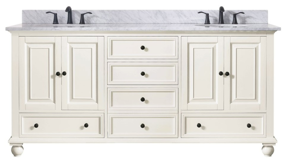 72 Inch Cooper Vanity Antique White Vanity Double Bath Vanity Sale