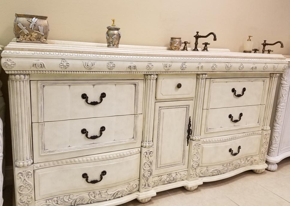 72in westport vanity antique white vanity traditional style double vanity for Antique white double bathroom vanity