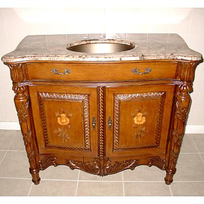 41 Inch Tuscan Vanity Concealed Hinges Vanity Undermount Brass Sink