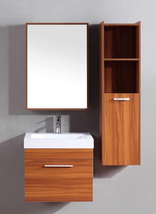 Narrow depth vanity 14 19 in vanity limited space vanity for Kitchen cabinets 20 inches deep