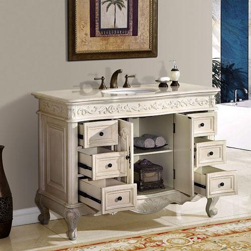 48 Inch Bliss Vanity | 48inch White Vanity | White Bathroom Furniture
