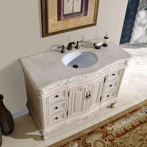 48 Inch Bliss Vanity 48inch White Vanity White Bathroom