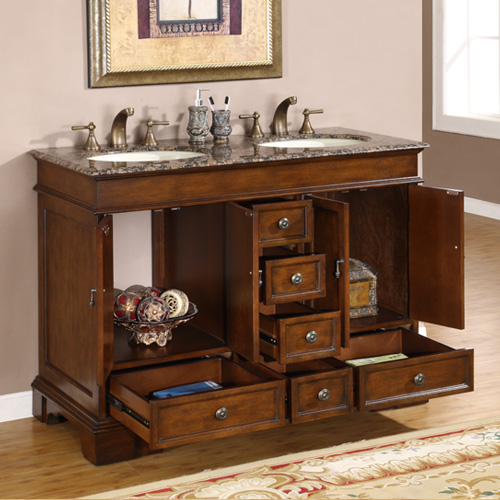 double sink vanity 48 inches. 48  Wide Merla Double Sink Vanity Shown Here In Baltic Brown Top Inch Compact