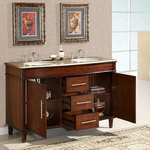 50 To 59 Inch Vanities Makeup Sink Vanity Large Sink Vanity