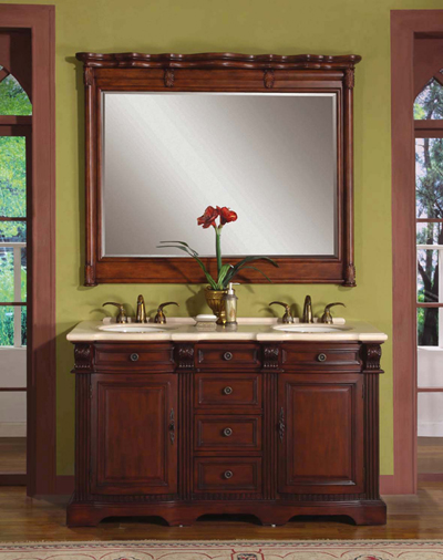 Note Shown With Wall Mirror Ships Without Wall Mirror Price Above Is For 58 Loraine Double Sink Vanity Only