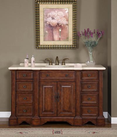 60 Inch Bathroom Vanity With Vessel Sink 58-inch tania vanity | 58-inch single vanity | single sink vanity