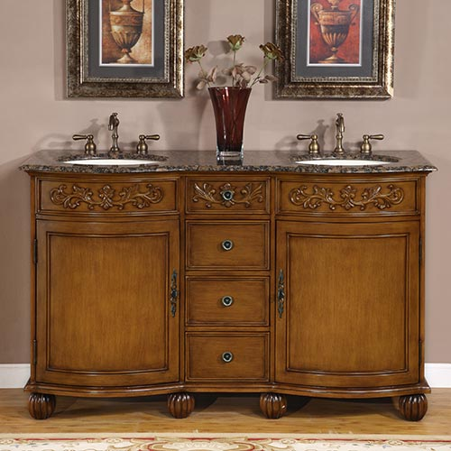 58 inch carnation vanity double sink chest double sink cabinet for 58 inch double bathroom vanity