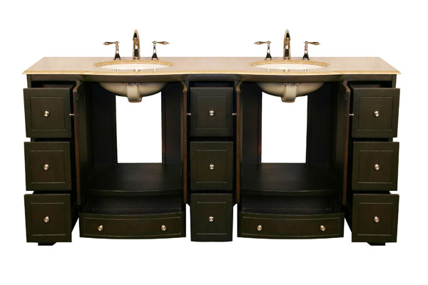 72 inch lily vanity double sink vanity double sink - 72 inch single sink bathroom vanity ...