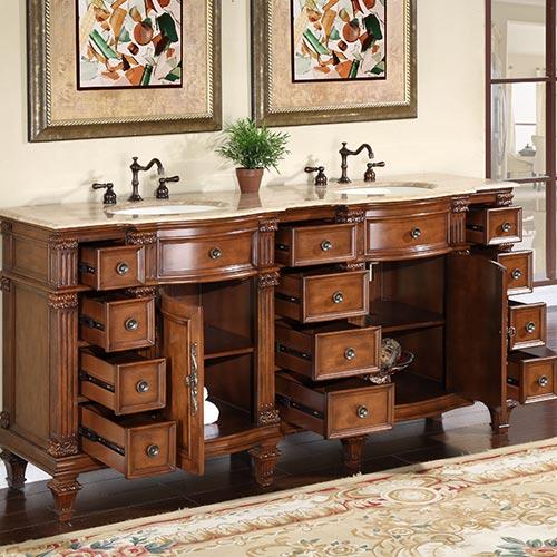 72-Inch Berlin Vanity | Bathroom Furniture Sale | Double ...