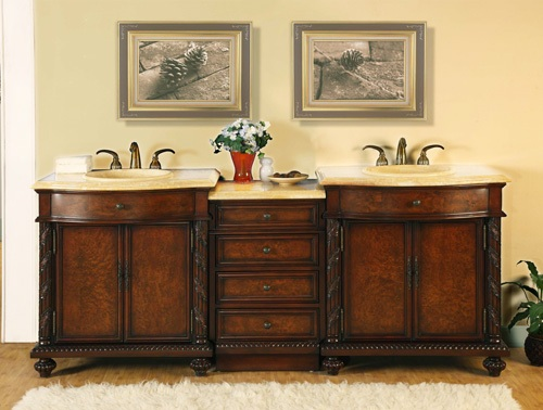 84 inch vanity top double sink. Best prices on Double Sink Bathroom Furniture  We will not be Undersold 84 Inch Barlow Vanity Honey Onyx Top illumination