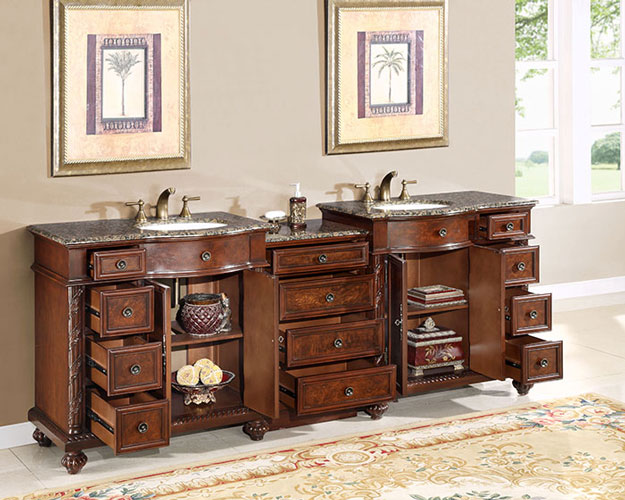 90-inch marley vanity | extra large sink chest | 90-inch double vanity