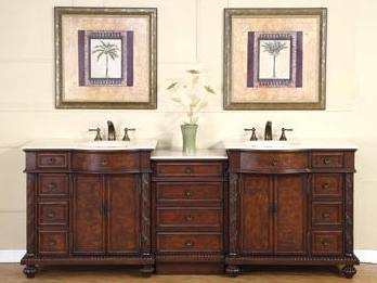 90 Inch Marley Vanity Extra Large Sink Chest 90 Inch Double Vanity