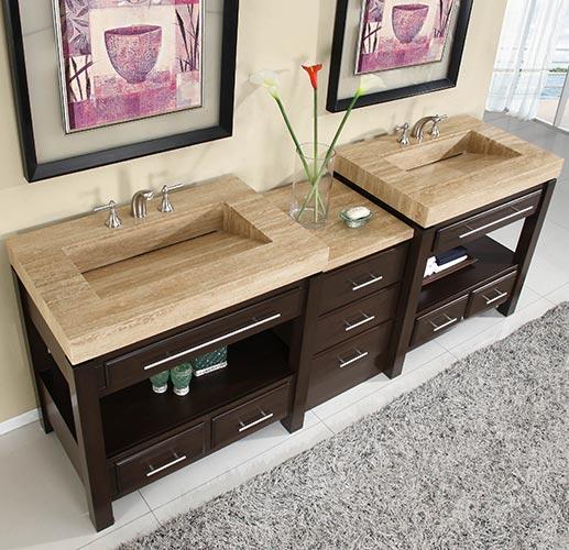 92 Inch Melita Vanity Extra Sink Chest