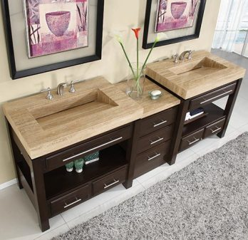 90 Inch Double Bathroom Vanity 80 inch and over vanities | bathroom sink vanities | double sink