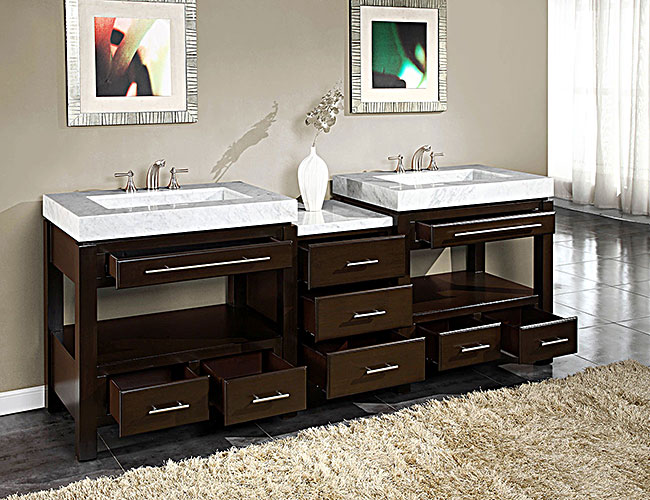 92-inch melita vanity | extra large sink chest | 92-inch double vanity
