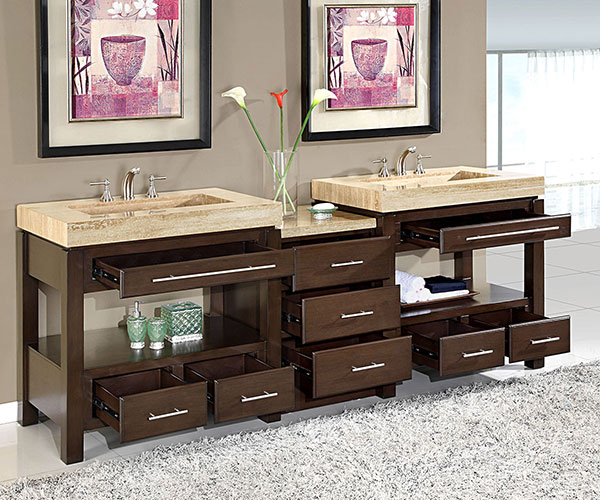 92 Inch Melita Vanity Extra Large Sink Chest 92 Inch