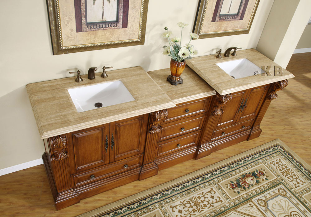 95 Inch Wide Cato Double Sink Vanity Very Large Vanity