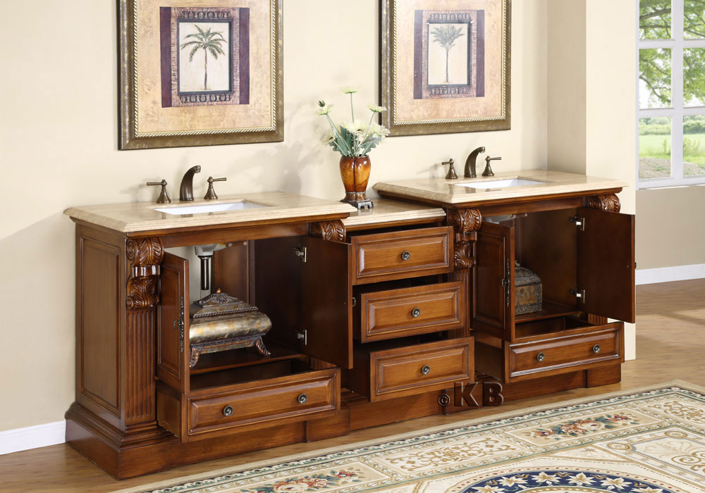95 inch Wide Cato Double Sink Vanity   Very Large Vanity   Large Double  Vanity. 95 inch Wide Cato Double Sink Vanity   Very Large Vanity   Large
