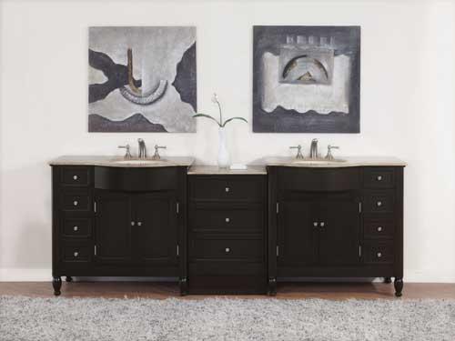 80 Inch And Over Vanities Bathroom Sink Vanities Double Sink Vanity