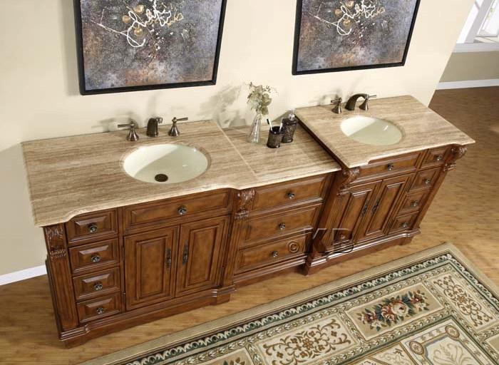 large double sink vanity. 95 Inch Wide Marcus Double Sink Vanity  Very Large