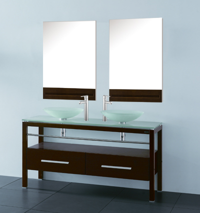 double vanity with two mirrors. vanity: 55\ double vanity with two mirrors