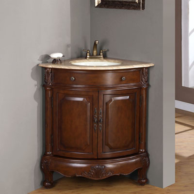 Sink includes Overflow Corner Vanity  Bathroom Cabinet