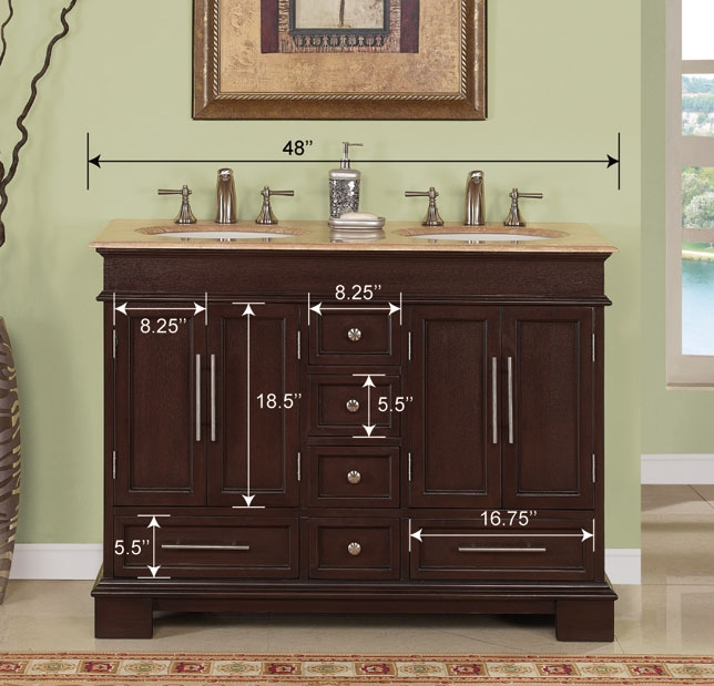 48inch Erika Vanity Space Saving Vanity Double Sink Vanity