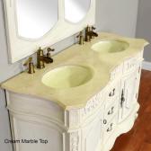 56 Jenna Sink Vanity Set Orig Price 2199 00 1757 Antique White Or Cherry Finish Double Bath Cream Marble Black Granite