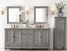 Bathroom Vanity And Linen Cabinet 60 - 69 inch vanities | double bathroom vanities | double sink vanity
