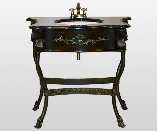Wrought Iron Vanity single sink pedestals | bath sink consoles |wrought iron stands