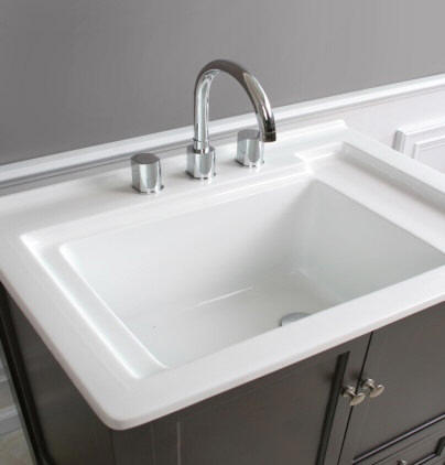 31 Wide Espresso Finish Laundry Sink Cabinet