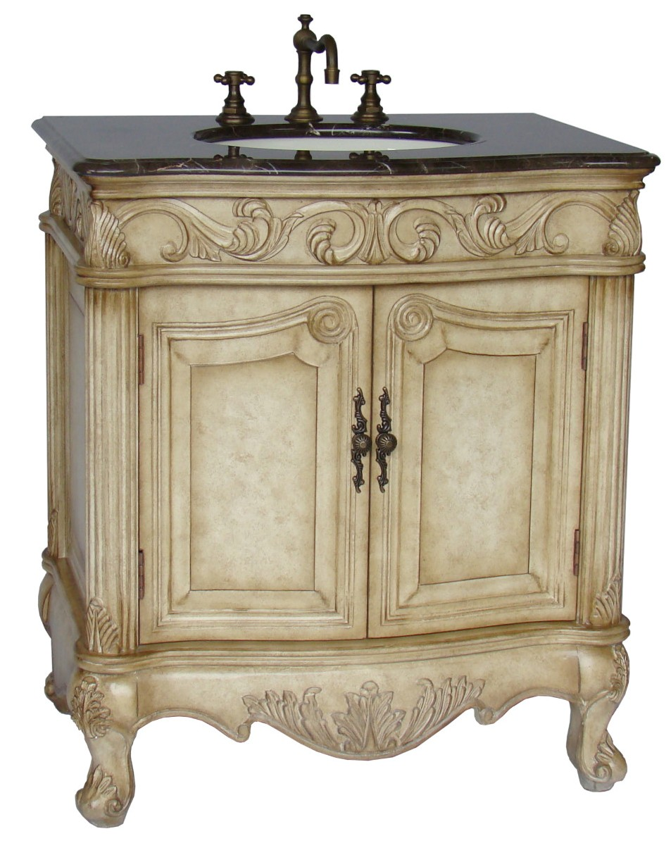 French style bathroom vanity units - 32inch Mia Vanity Country French Style